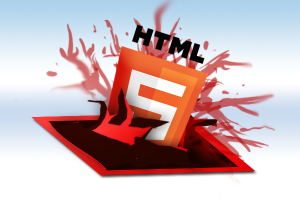 Ok a little gross and graphic depiction of the flash logo being replaced by html5 a la Aliens.